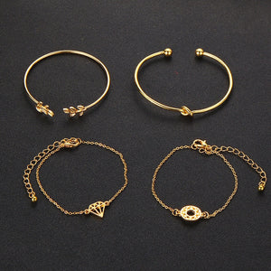 4 Piece Good Luck Charm Bracelets