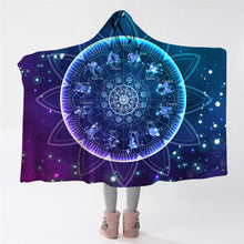 Load image into Gallery viewer, The Zodiac Lotus Hooded Blanket
