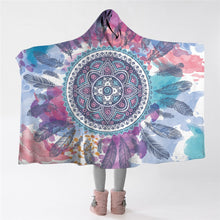 Load image into Gallery viewer, The Psychedelic Hooded Blanket