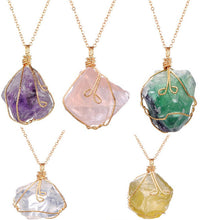 Load image into Gallery viewer, Rainbow Crystal Chakra Necklace