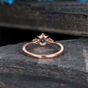 Simple Rose Gold Crystal Ring