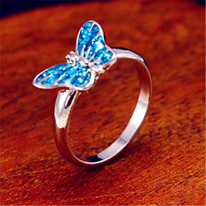 The Opal Butterfly Ring