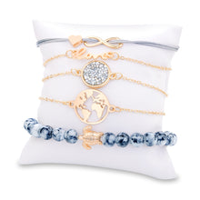 Load image into Gallery viewer, Wanderlust 5 Piece Bracelet  Set