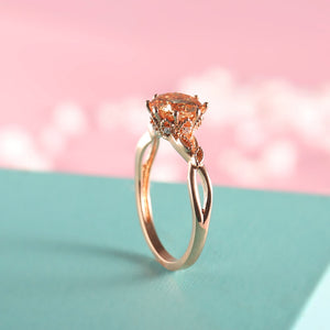Rose Gold Leaf Ring