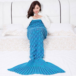 Hanmade Mermaid Snuggle Blanket