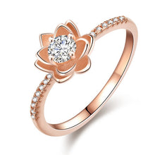 Load image into Gallery viewer, Rose Gold Lotus Ring