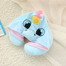 Load image into Gallery viewer, (Best Seller) Hooded Unicorn Neck Pillow
