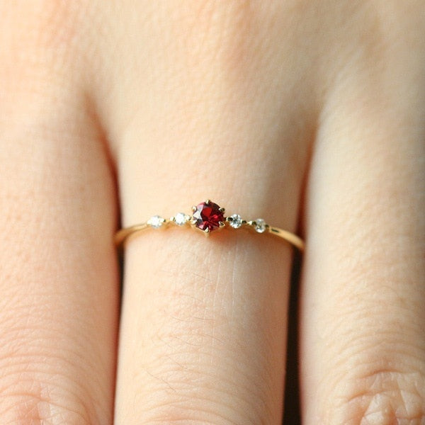 Cute Crystal Engagement Ring