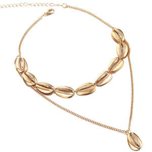 Multilayer Shell Trendy Necklace