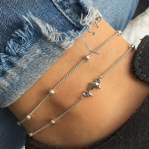 Adorable Dolphin Anklet
