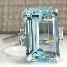 Load image into Gallery viewer, Natural Aquamarine Ring