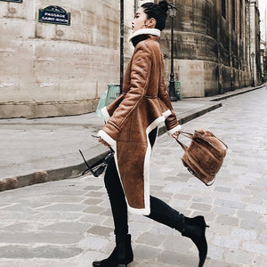 The Leather Lady Turtleneck Coat