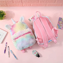 Load image into Gallery viewer, Rainbow Plus Unicorn Backpack