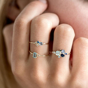 3pcs set Crystal Rings