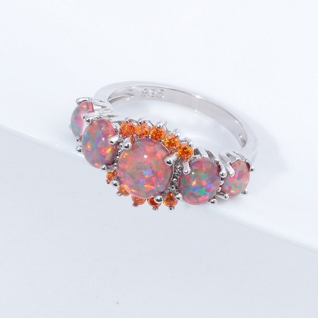 Luxe Fire Opal Ring