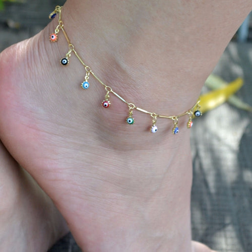 bohemian charm anklet