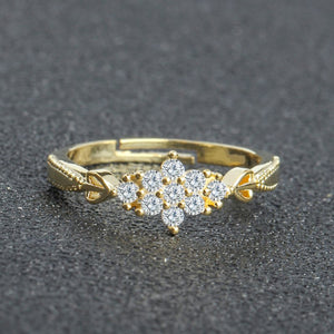 Cute snowflake Engagement ring