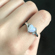 Load image into Gallery viewer, Heart Fire Opal Ring