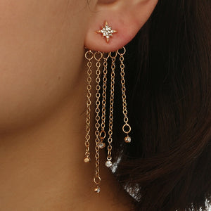 Shooting Star Tassel Dangle Earrings