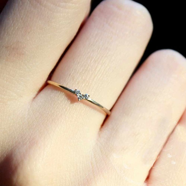 Chic Dainty Heart Ring