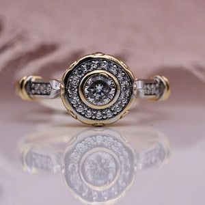 Amelie Halo Engagement Ring