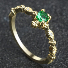 Load image into Gallery viewer, Eastern Elegance Bohemian Emerald Ring