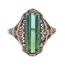 Load image into Gallery viewer, Estate Filagree Amazonite Ring