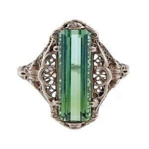 Estate Filagree Amazonite Ring