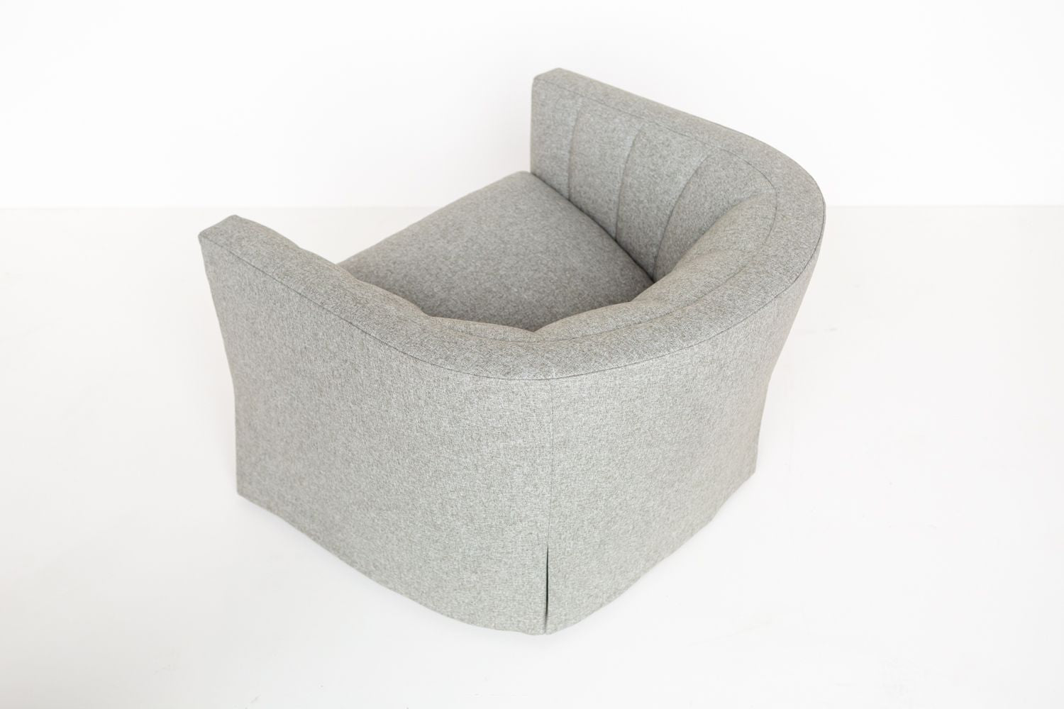 Rear top view product shot of the ffabb home Coco Swivel Chair