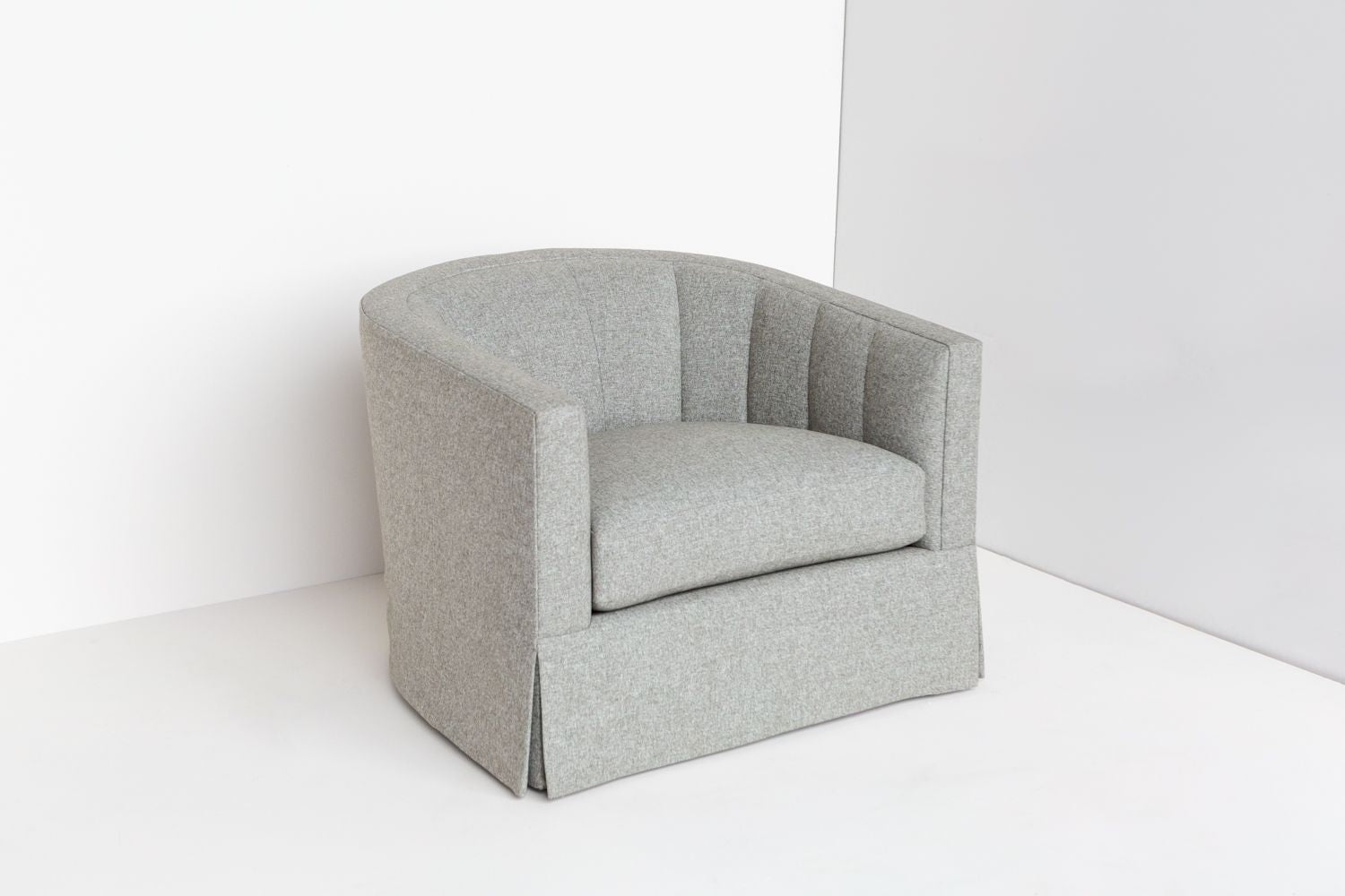 Side view profile product shot of ffabb home Coco Swivel chair