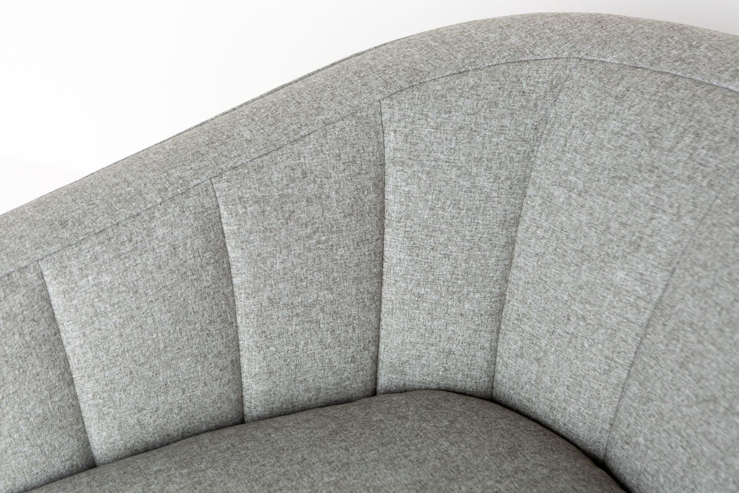 Inside channel back product shot of the Coco Swivel chair by ffabb home