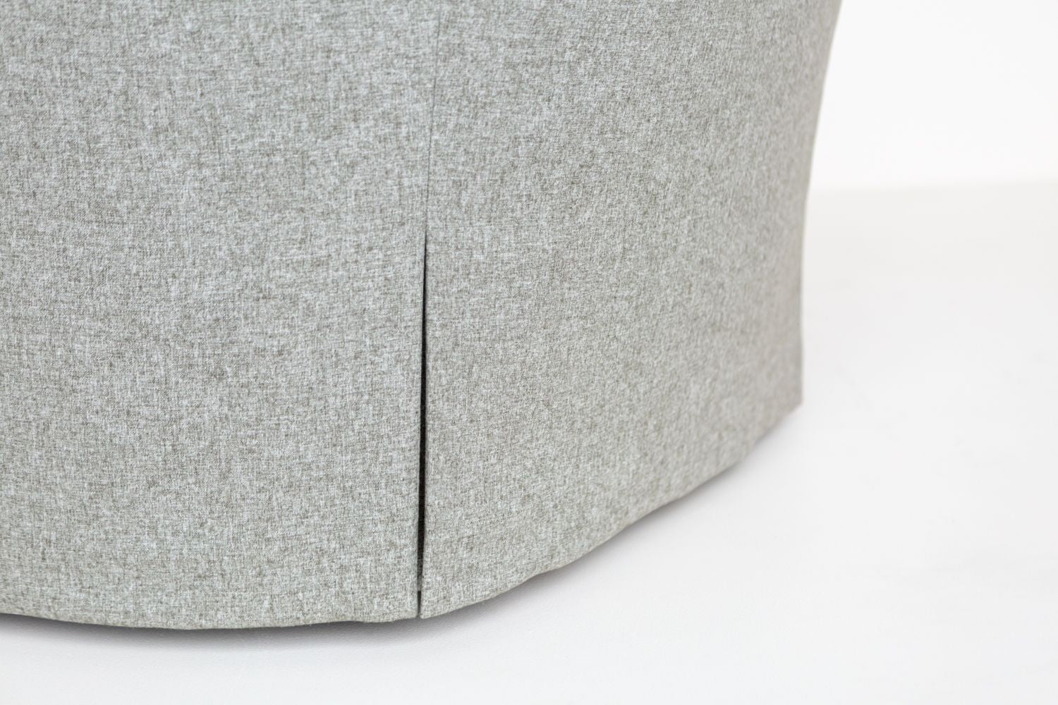 Waterfall skirt detail product shot of the ffabb home Coco Swivel chair
