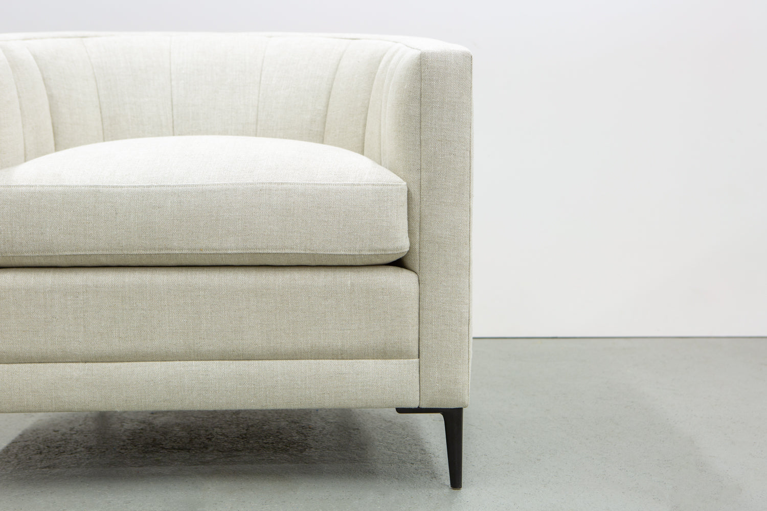 Front profile image of ffabb home Coco Chair upholstered in Linen - Oatmeal