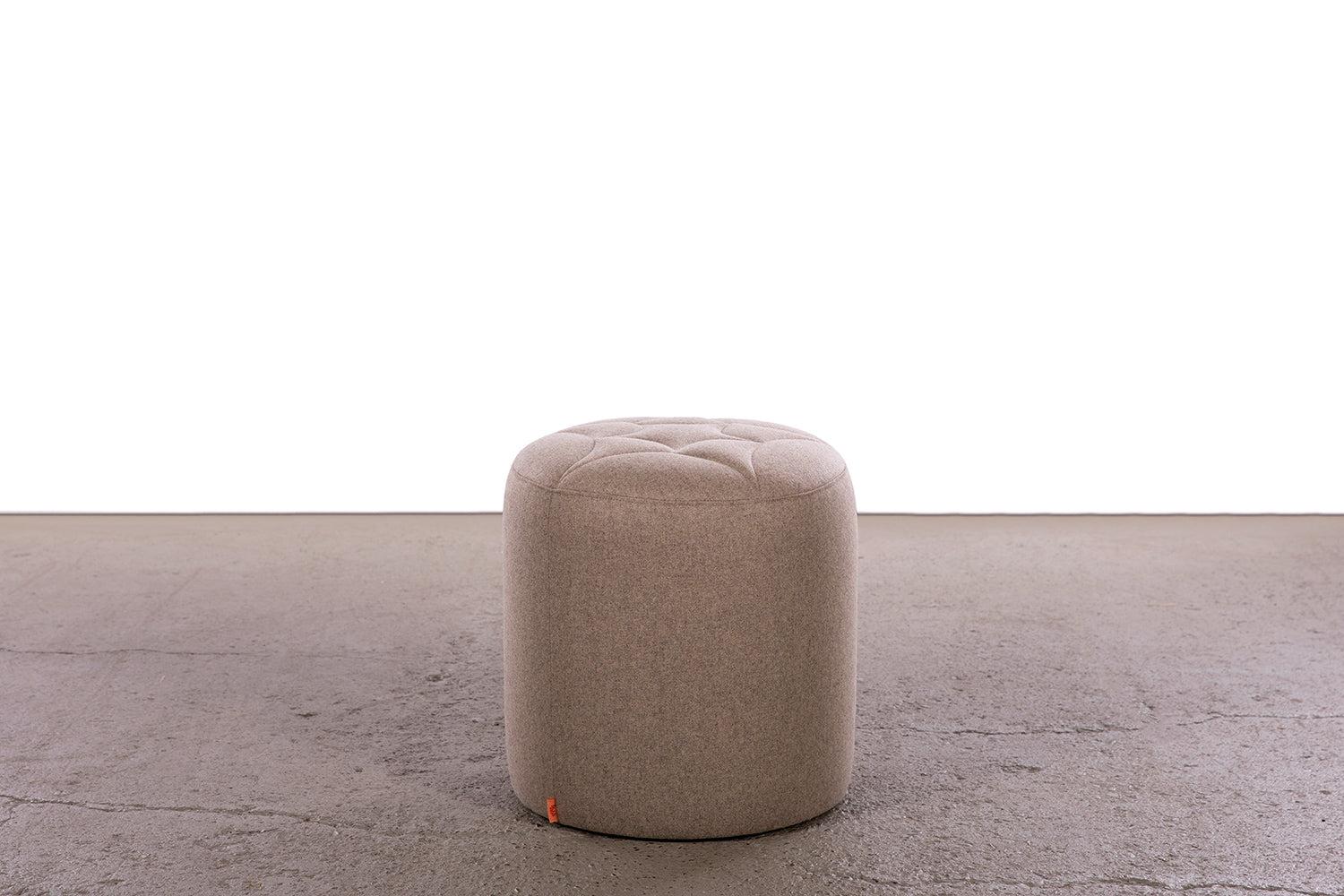 small 3's companee ottoman, Timbr wool fabric