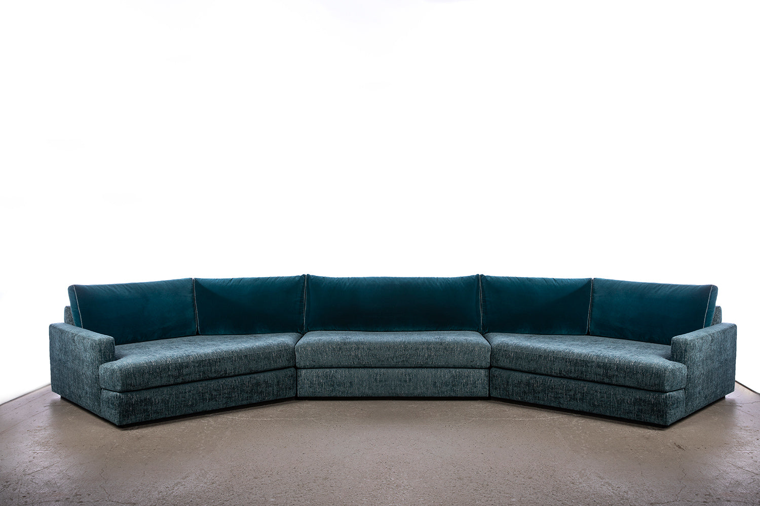 ffabb Coasty Slim - Bay modular Sectional : medium in peacock mohair