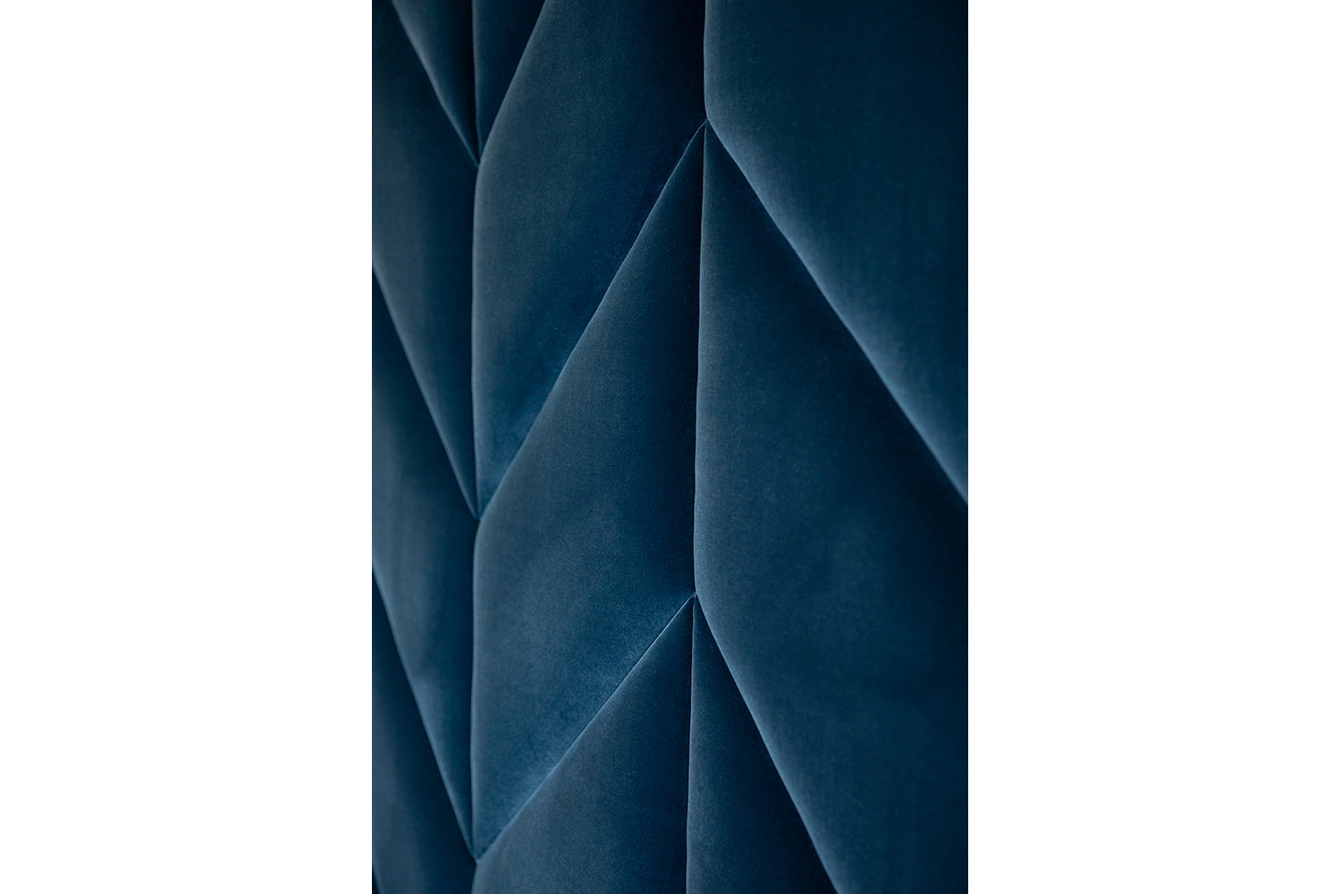 ffabb Hansem Herringbone King wall panel shown fabric Faux Mohair Night Moves