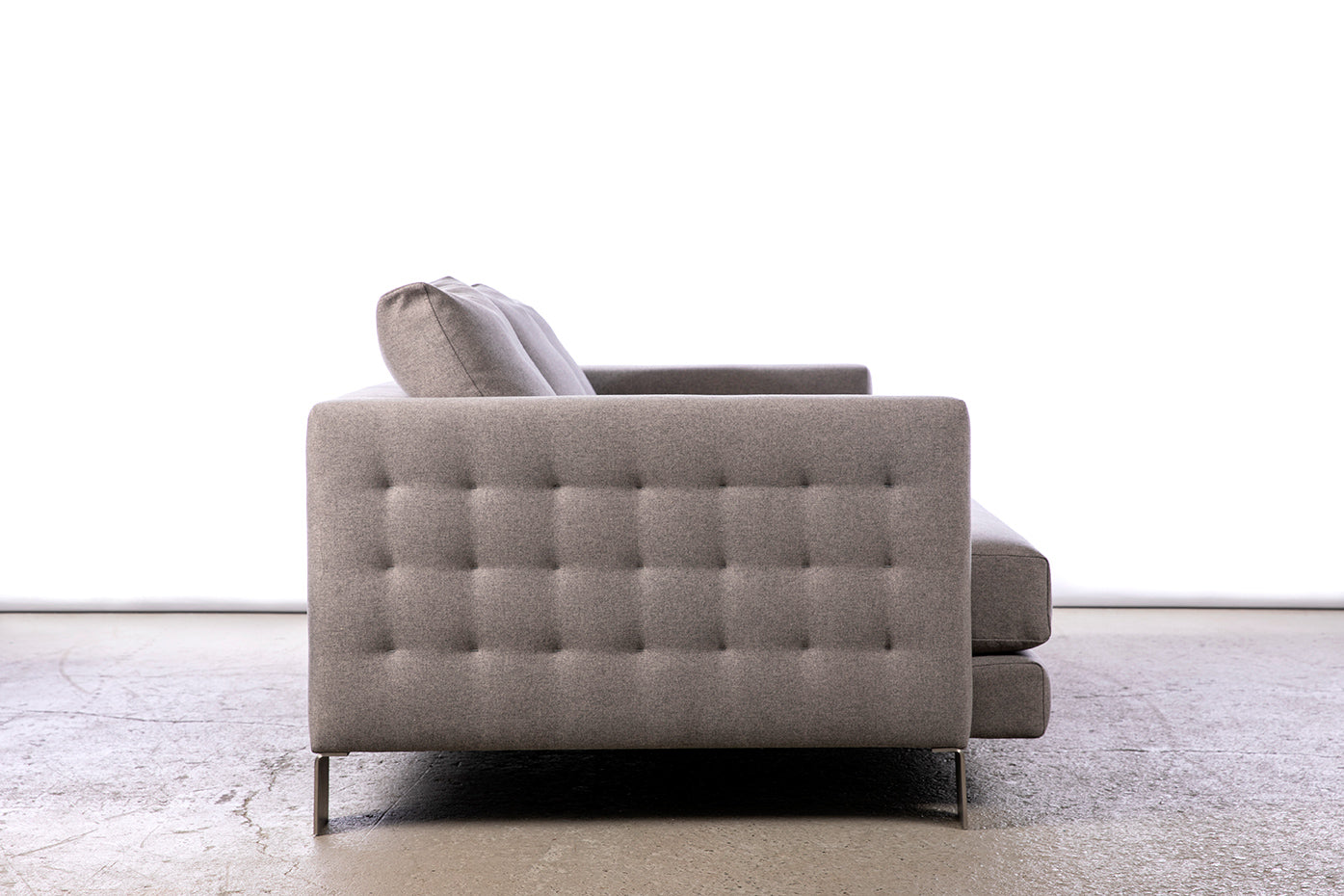 ffabb Saturday Somewhere Sofa in Wool like - Alloy fabric, tufted side view