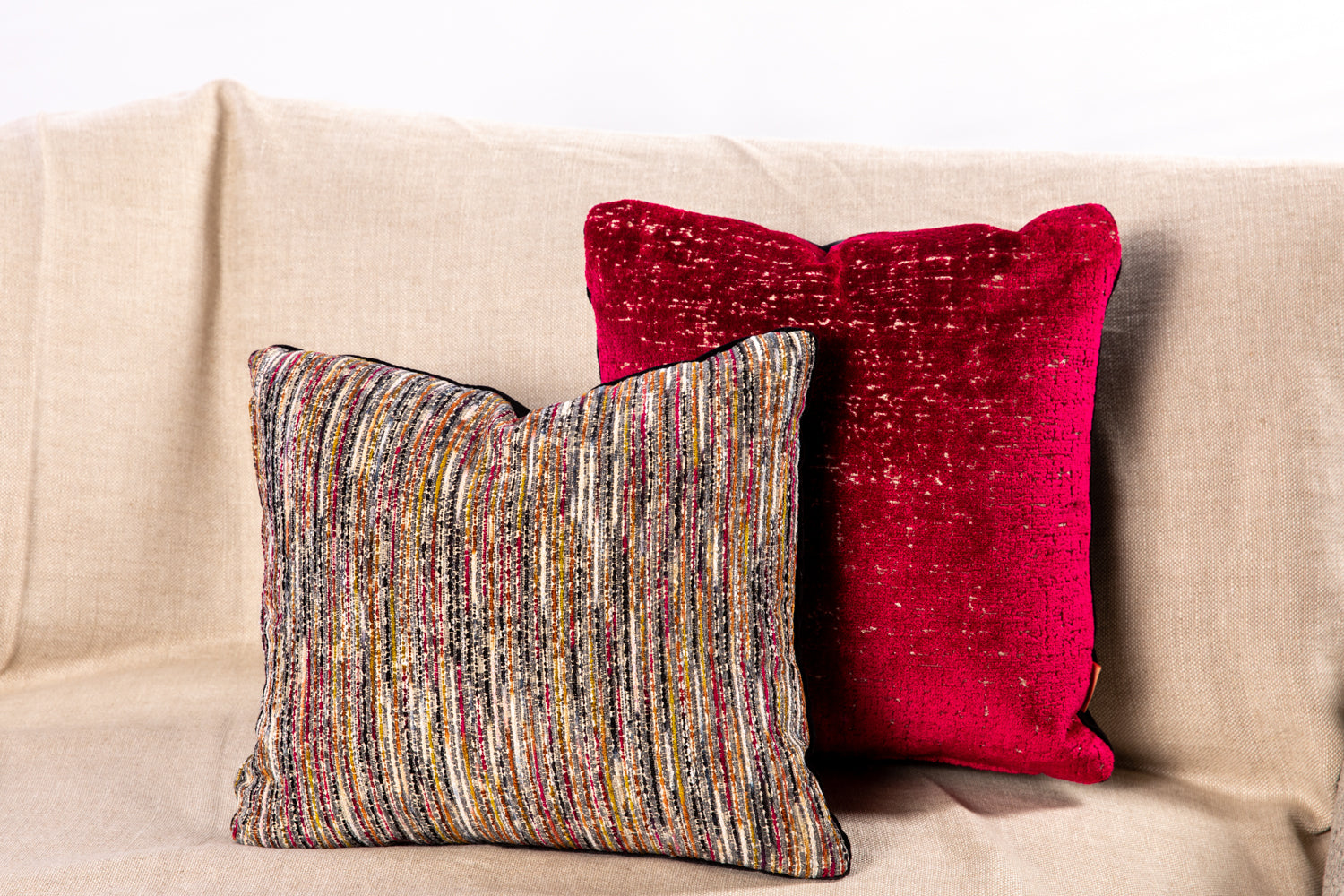 ffabb toss pillows Maxwell fabrics cut velvet
