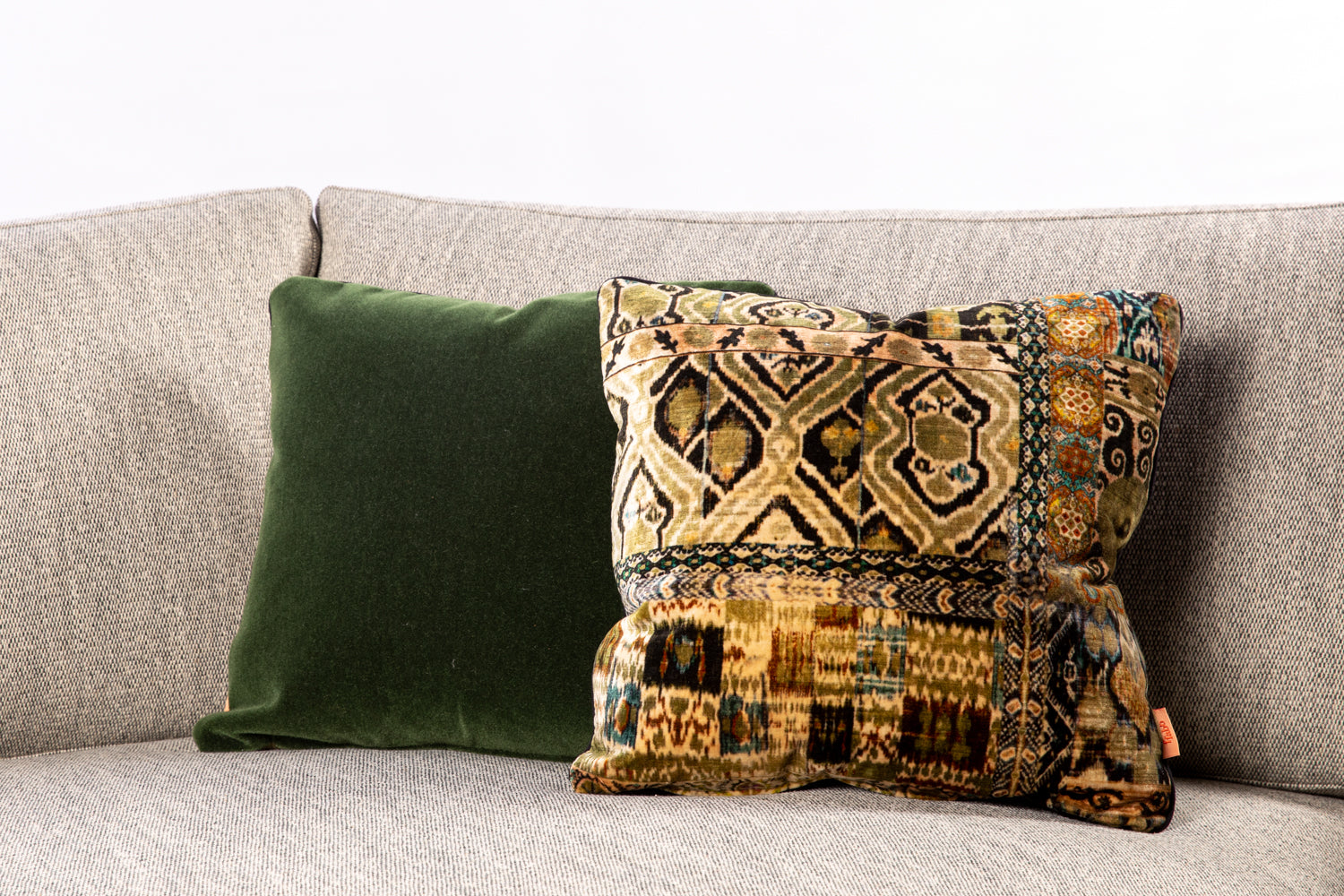 ffabb toss pillows, velvet, mohair Kravet & RADG fabric