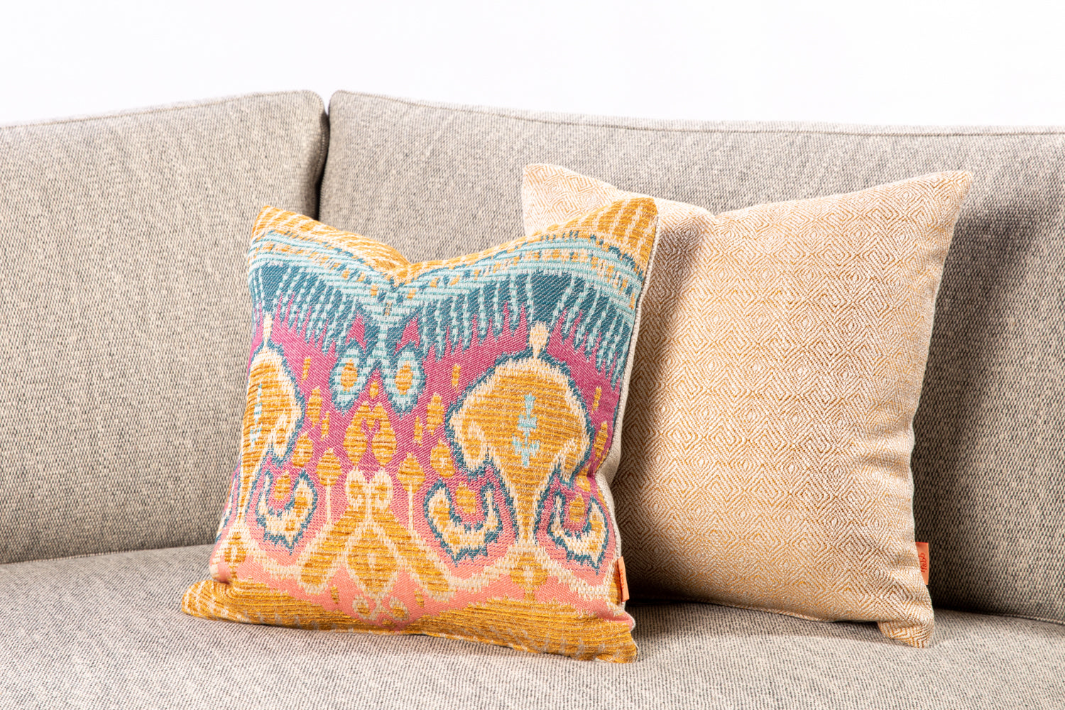 ffabb toss pillows, RADG fabrics boho print