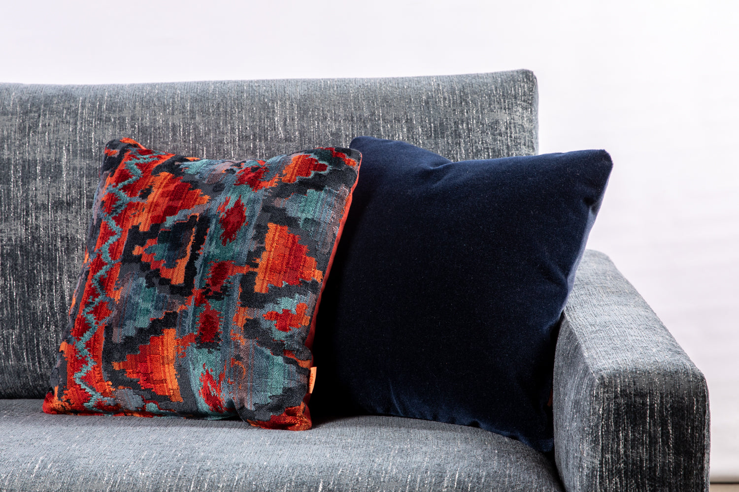 ffabb toss pillows, RADG fabric, velvet & mohair