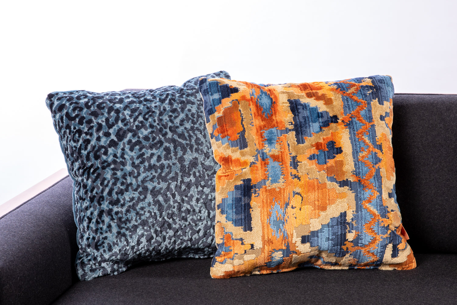 Beacon Hill fabrics, animal and abstract pattern toss pillows