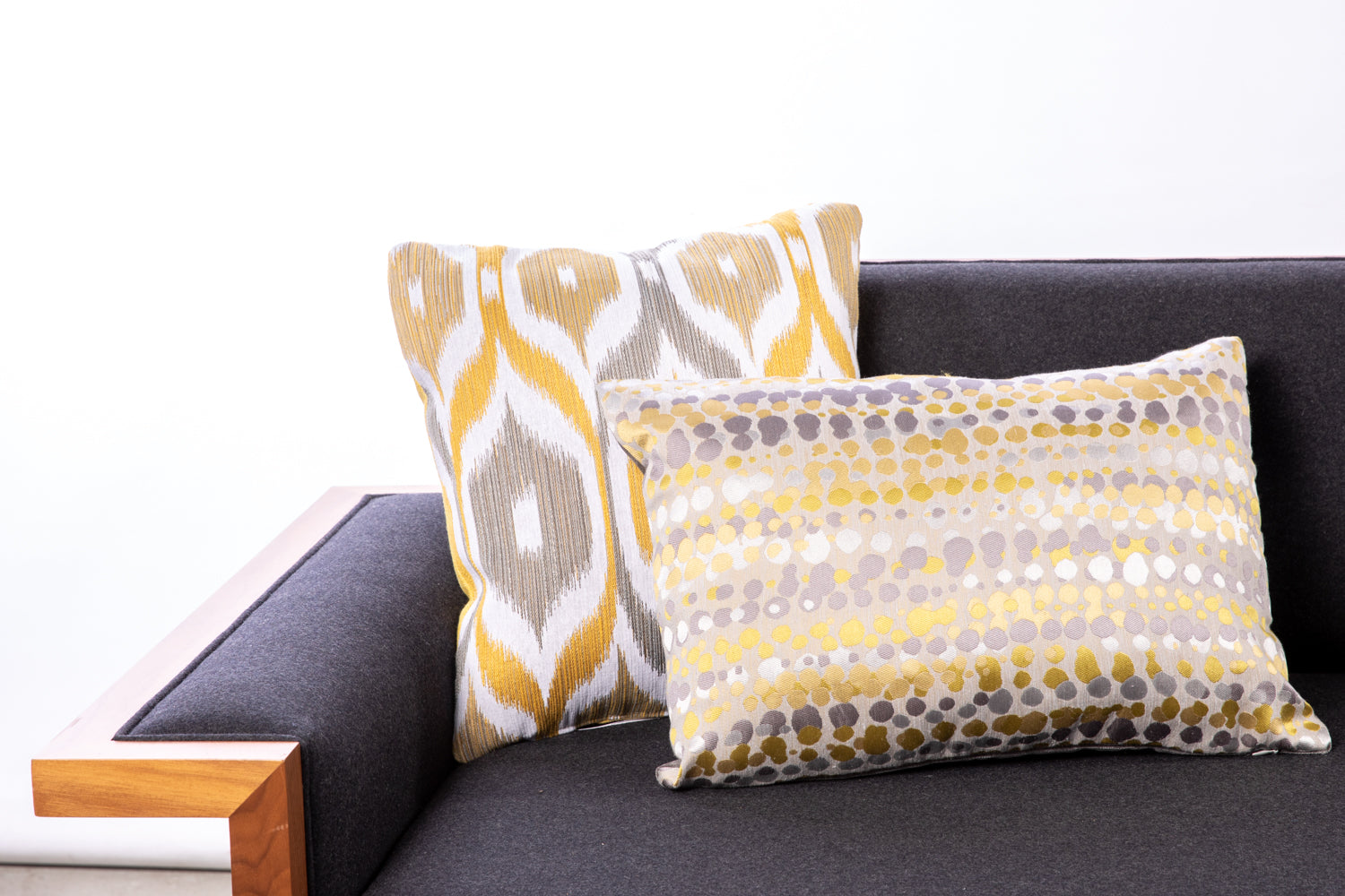 ffabb toss pillows RADG & Maxwell fabrics ikat pattern