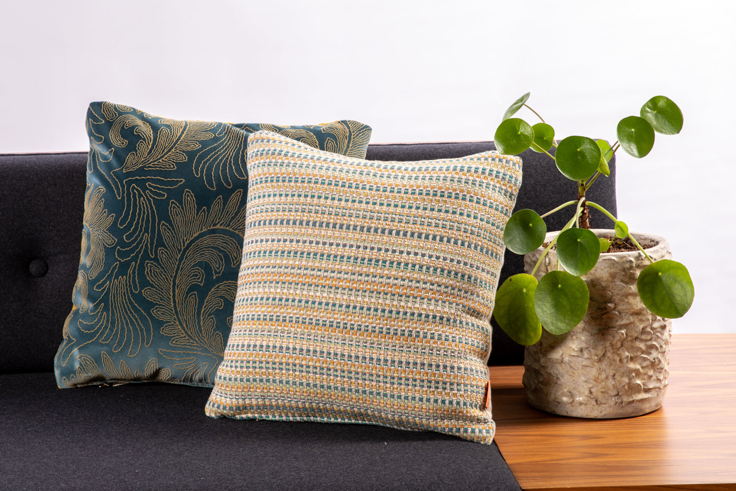 ffabb toss pillows, RADG & Maxwell fabrics velvet