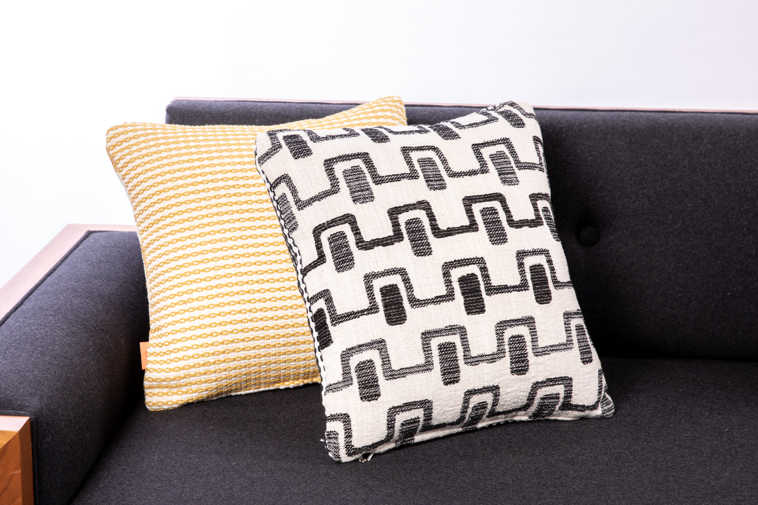 ffabb toss pillows RADG & Maxwell fabrics retro pattern