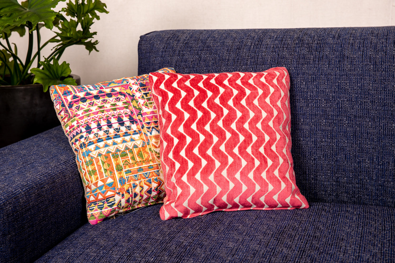 ffabb toss pillows, RADG & Maxwell fabrics, velvet small scale pattern