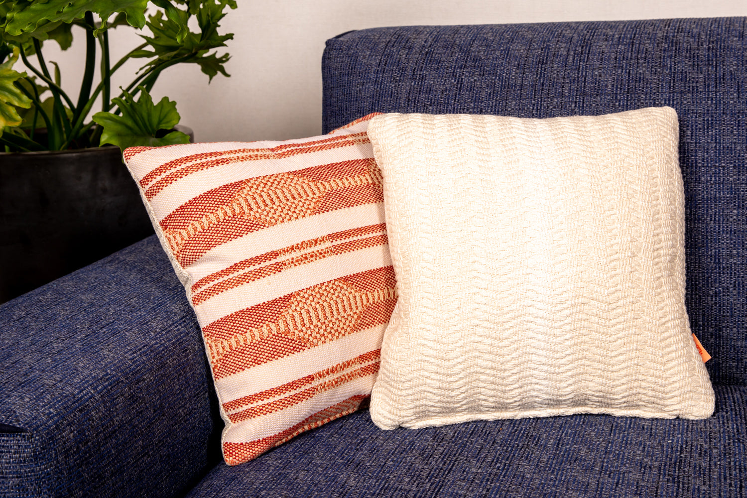 ffabb toss pillows, RADG fabrics, woven, small scale pattern