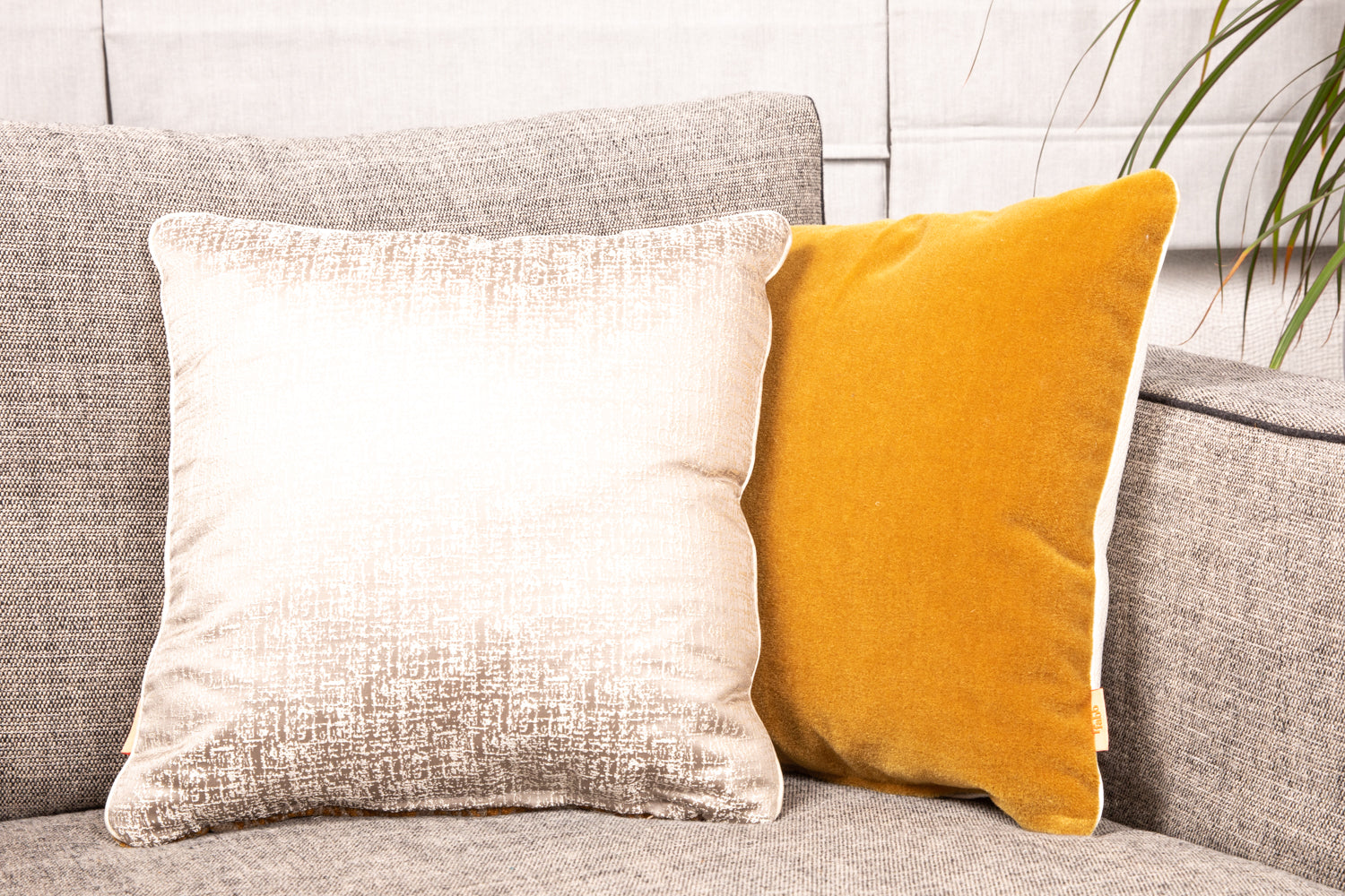 ffabb Velvet & Mohair piped trim toss pillows, Robert Allen Design fabrics