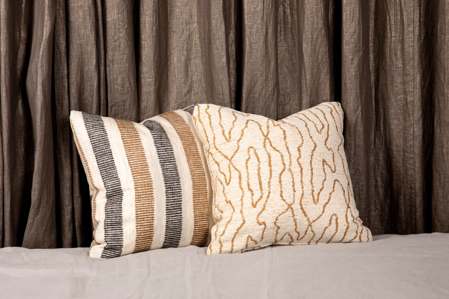ffabb toss pillows RADG & Maxwell fabrics  woven and chenille fabrics