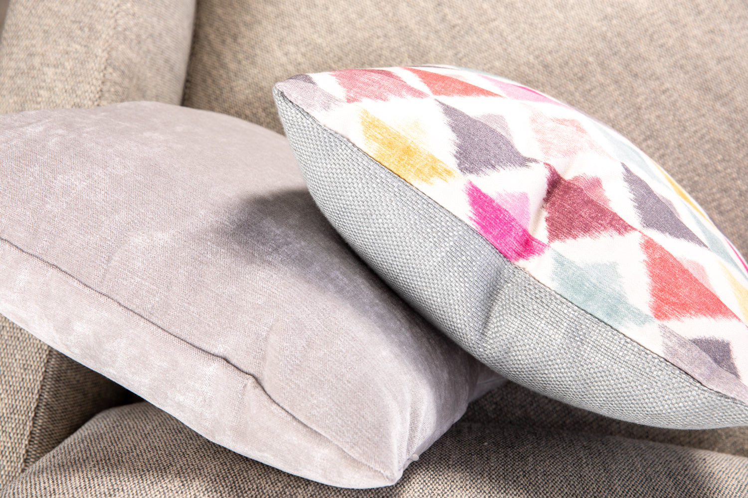 ffabb toss pillows RADG and Maxwell fabrics triangle weave